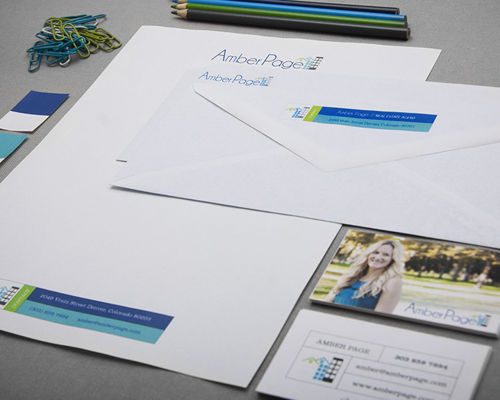 Identity, Branding, Print Design, and Photography - Amber Page Real Estate