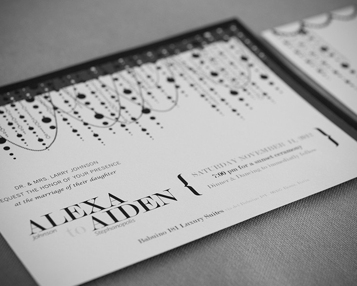 Print Design - Chandelier Wedding Invitation